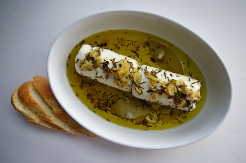 Goat Cheese with Herbed Olive Oil - Patent & the Pantry