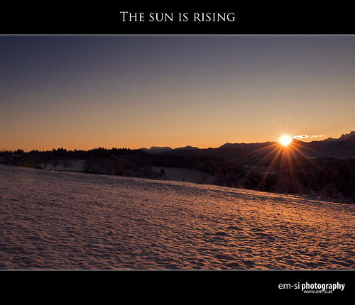 The sun is rising