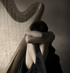 The Harp Sessions: No more songs for you (eugkyr) Tags: portrait harp songs sessions textured committeeofartists eugkyr