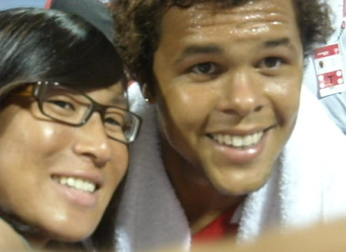 Jo-Wilfred Tsonga and Isabelle Chrun