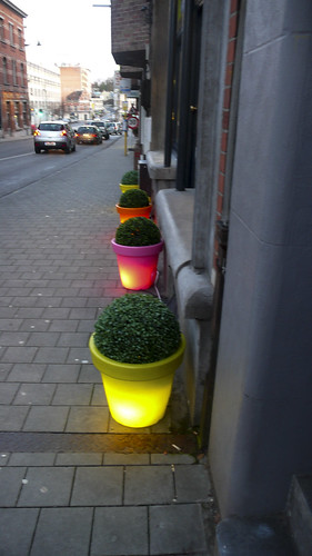 Brussels - Glowing Flowerpots by infomatique