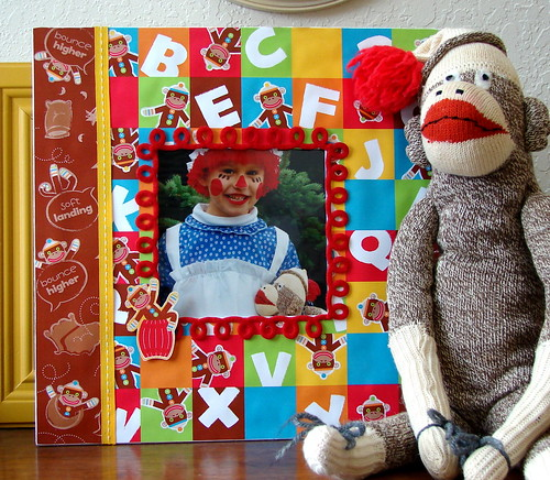 BE Amanda Frame using Studio Basics 101's Sock Monkey Collection