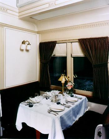 Private Rail Car - Dover Harbor, dining area