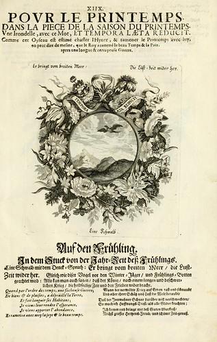 020- Divisa 2 del tapiz primavera-Tapisseries du roy, ou sont representez les quatre elemens 1690- Sebastien Le Clerc