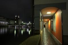 Zurich at night (VespaTS) Tags: reflections pentax zurich zrich hdr grossmnster grossmunster k20d da15ltd