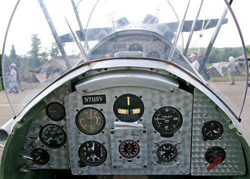 Stampe SV-4C (N711SV) Rear Cockpit