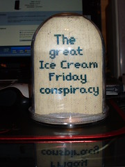 Ice Cream snow globe 1 (Valued Sony Customer) Tags: snow ice globe cross stitch cream conspiracy xstitch