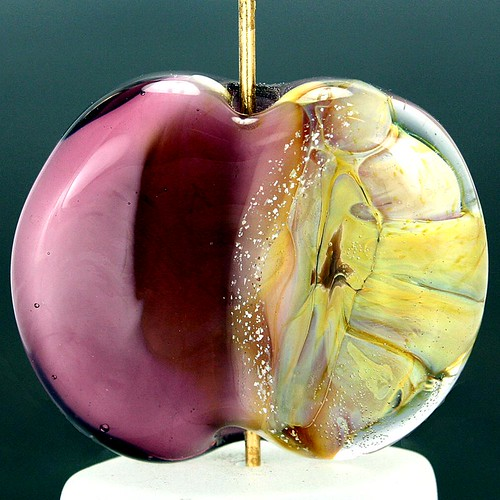 Lampwork Focal Glass Bead - Purple Majesty
