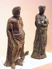 Household shrine figures of Asclepius god of m...