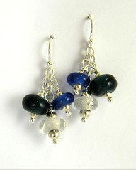 "Recyled Glass Bead Earrings • <a style=""font-size:0.8em;"" href=""https://www.flickr.com/photos/37516896@N05/4362779324/"" target=""_blank"">View on Flickr</a>"