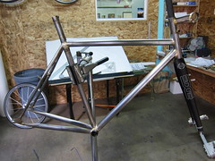 other side (Hufnagel Cycles) Tags: bicycle stem handmade steel awesome edge singlespeed custom curved cyclocross cycles internal integrated fillet seatpost routing brazed hufnagel