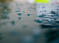 .. (vigvam) Tags: cold green ice nature water colors rain weather hail reflections waves mood bokeh climate