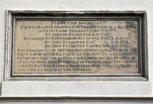 Plumptre Hospital, Nottingham - Inscription