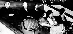 Turkish President Fahri Koruturk with Prime Minister Bhutto and President Chaudhry at a cultural event, 1975 (Doc Kazi) Tags: pakistan history nusrat bhutto zulfikar
