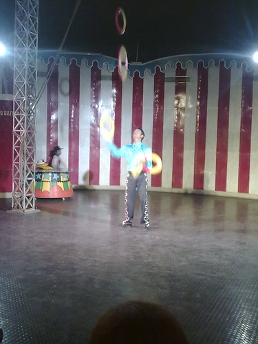 artists performing inside dome theatre @ Ramoji film city