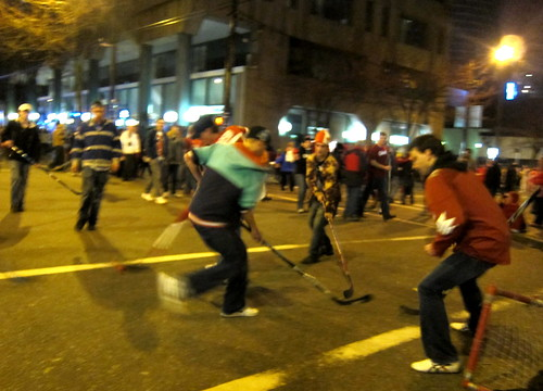Hockey game at Smithe and Howe