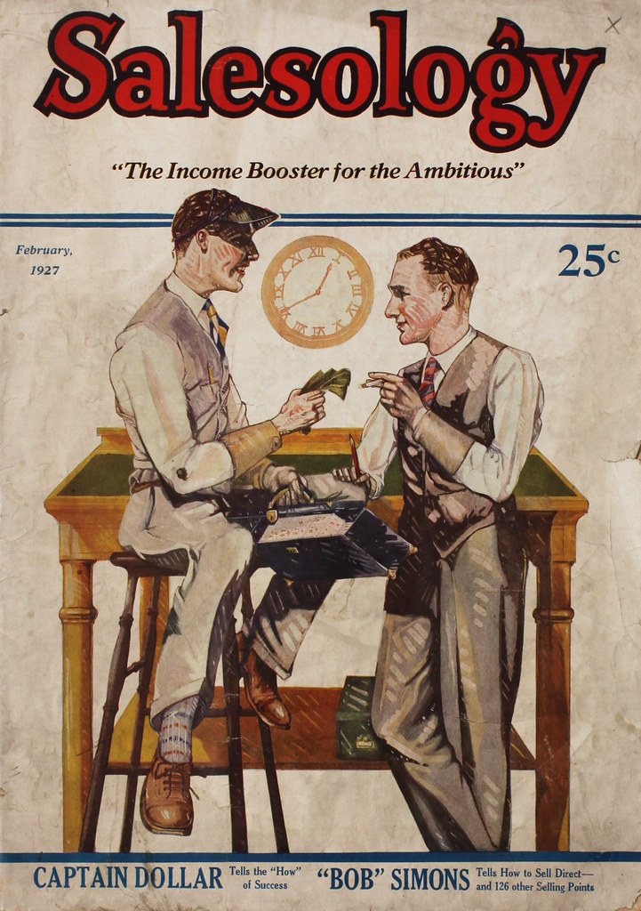 Salesology February 1927:  Cover