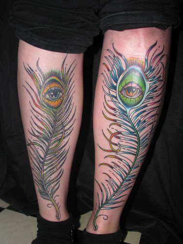 peacock feather tattoos. peacock feathers by Tattoos By