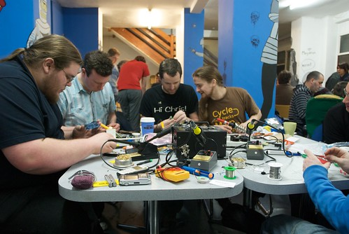Photo of people working at MadLab