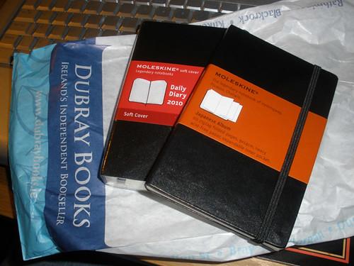 Moleskine shopping for 2010