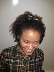 [Allison modeling headphones]