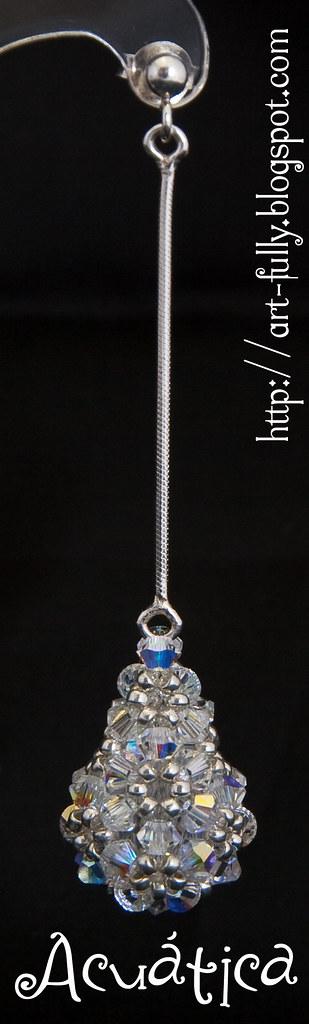 Pendiente  Lágrima: cristal AB (individual)