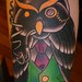 J Brett Prince Owl With Monacle Tattoo