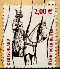 great stamp Germany  2.00 The Bamberg Horseman, Bamberger Reiter (equestrian statue ca. 1230 / maybe holy King Stephan of Hungary or Henry II, Holy Roman Emperor) postes timbres Allemagne postage selo Alemanha sello Alemania pullar Alemanya mapka  2.00 (stampolina) Tags: horse history animal statue postes germany tiere euro stamps cent landmarks bamberg stamp collection porto reiter timbre middleages postage sights franco duitsland stempel equestrianstatue revenue philately vis marke selo marka alleman