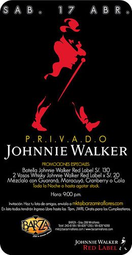 Privado Johnnie Walker - Barza Xtreme