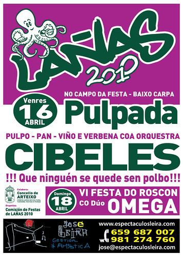Lañas - 2010 - Pulpada e Festa do Roscón - Arteixo - abril - cartel