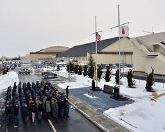 140311-N-DP652-010 (U.S. Pacific Fleet) Tags: japan anniversary tsunami aomori third halfmast misawa navalairfacilitymisawa nafmisawa greateastjapanearthquake