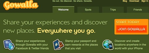 Go out. Go discover. Go share. Gowalla.