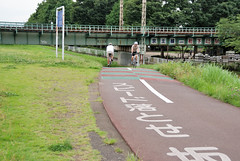 Cycling Road under Keio Line (ykanazawa1999) Tags: road railroad japan river underpass cycling tokyo embankment tamariver nakagawara