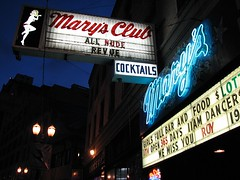 Mary's Club, downtown Portland, Oregon