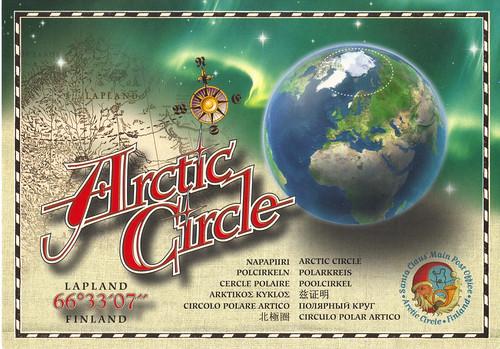 map of arctic circle. Arctic Circle Earth Map