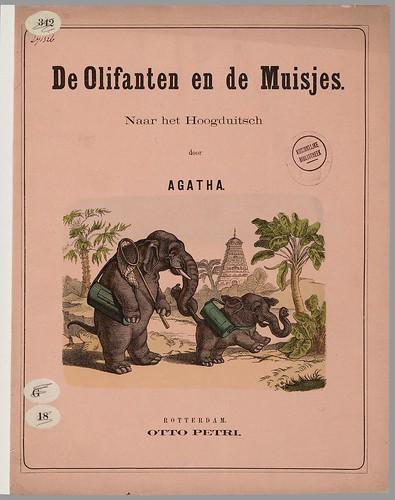 De olifanten en de muisjes - naar het Hoogduitsch by Agatha, 1876