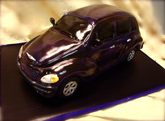 purple pt cruiser cake by debbiedoescakes