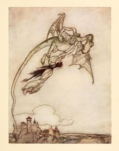 020-Los cuatro hermanos Clever- Snowdrop & other tales 1920- Grimm-Ilustrada por Rackham
