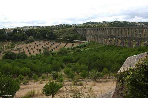 The Aqueduct is impressive, and stands majestically above the valley