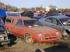 1983 Dodge Rampage (splattergraphics) Tags: truck pickup dodge junkyard 1983 mopar rampage fwdmopar lbody crazyrays hawkinspointmd