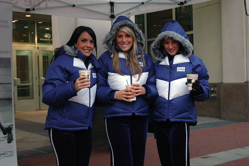 The Indianapolis Colts Cheerleaders helped The Salvation Army Kickoff its annual Celebrity Bellringing event.