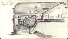 Portland, Oregon - SketchCrawl at the Kennedy School (NaNoDrawMo #38)