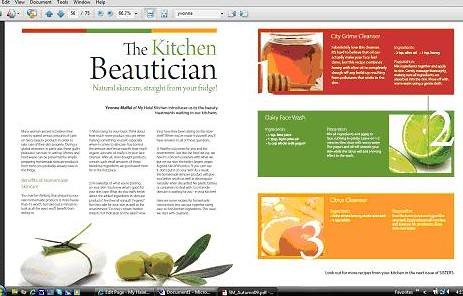 Sisters Magazine Kitchen Beautician