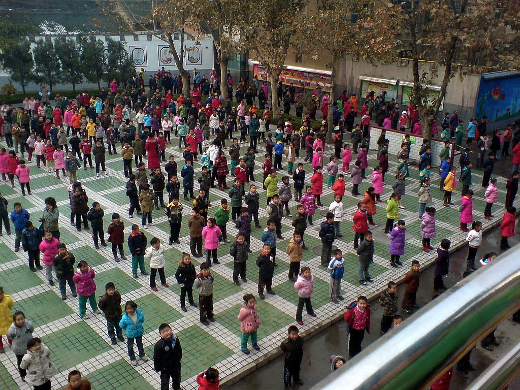Beitang Students Exercising