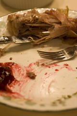 The remains of the meal