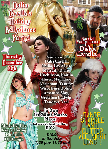Flyer for Dalia Carella's Holiday Party & Benefit
