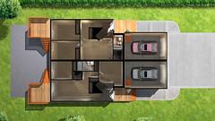 Ironwolf Duplex - Main Floor Plan (Zensoft Studios) Tags: architecture 3d perspective paintover archviz zensoft
