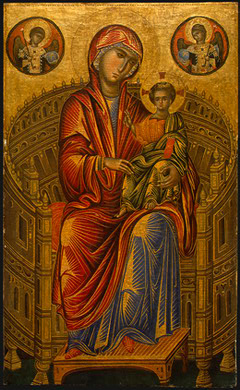 Madonna and Child on a Curved Throne