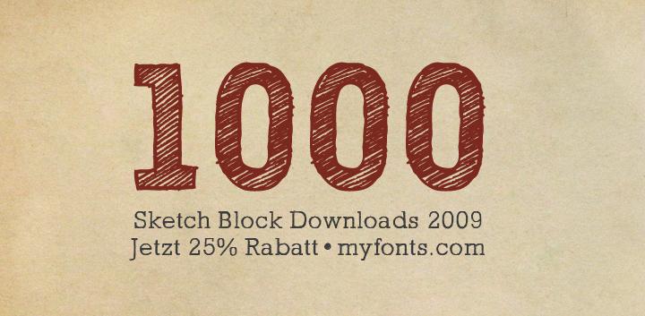 1000x sketch block font