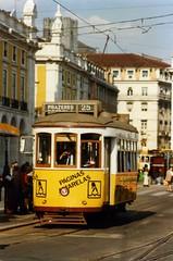 Lisbon tram nr 580, route 25 to Prazeres.  1997